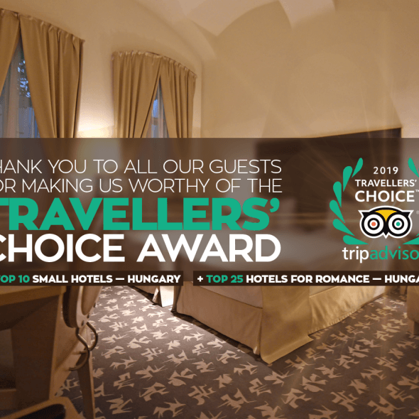Buda Castle Fashion Hotel wins Tripadvisor Travellers' Choice Award