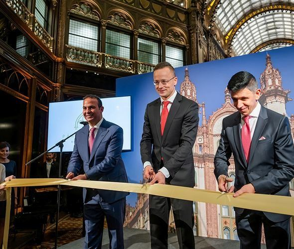 The Párisi Udvar Hotel Budapest has officially opened